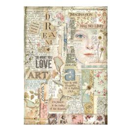 Papel de Arroz Love Art Stamperia A4