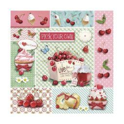 Servilleta Decoupage Red Cherries