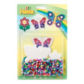 Blíster 1100 beads Mariposa y Flor