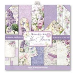 Papel Scrap 30x30 Lilac Flowers Stamperia