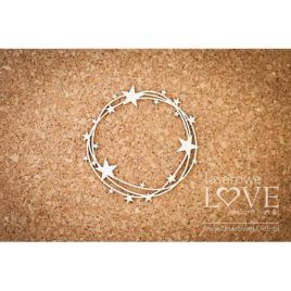 Chipboard Round Frame with Stars le Astre