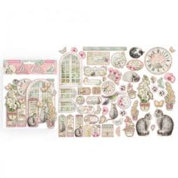 Die Cuts Orchids and Cats Stamperia