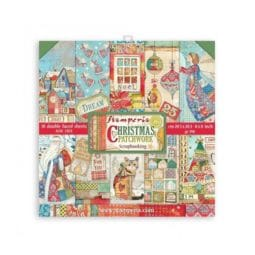 Papel Scrap 20.3x20.3 Patchwork Christmas Stamperia